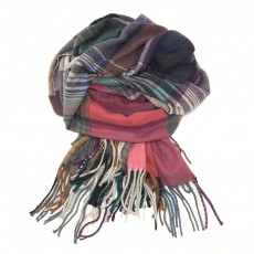 Multi Coloured Blanket Scarf