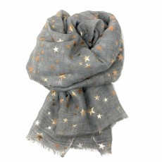 SC-Silver Grey Stars-Rose Gold Foil