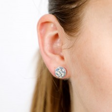 Hammered Silver studs