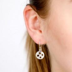 Cut out multiple stars drop earring